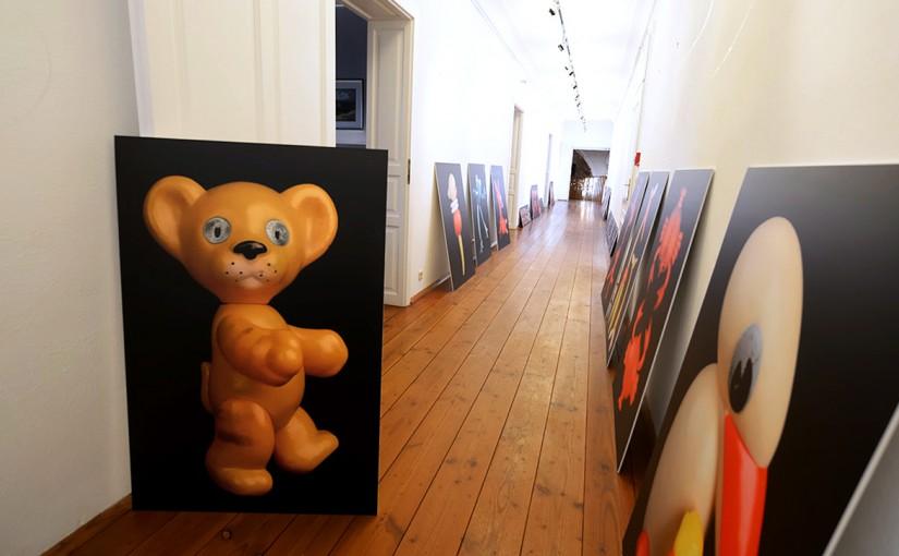 Монтаж выставки  в Бургенланде